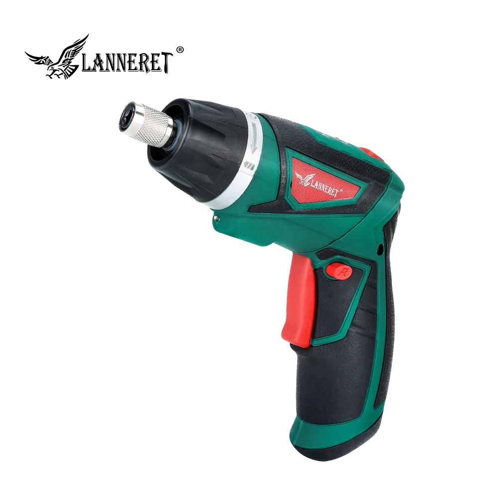 LANNERET 7.2V Cordless Screwdriver 1500mAh Li-Ion Battery Electric Screwdriver Household Rechargeable Twistable Handle