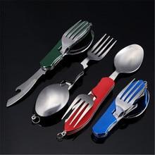 Couteau à fruits, outil multifonctionnel pliant et détachable, vaisselle de camping en plein air trois ouvertes multifonctions cadeau suisse couteau à fruits