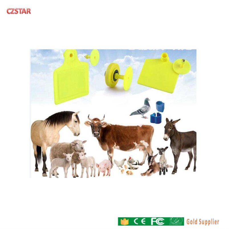 Free Ship Passive Long Range 860~960MHz UHF RFID Animal Livestock Identification Cow Cattle Sheep Ear Tags For Uhf Tag Reader