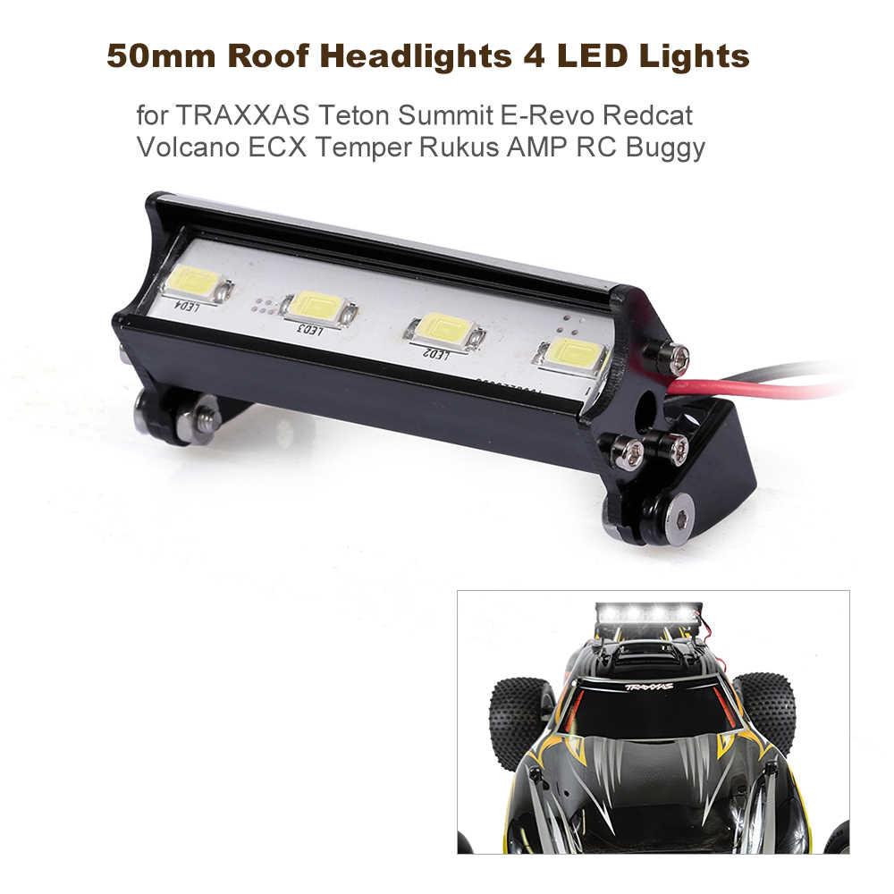 50 мм крыша фары RC внедорожный Купол 4 светодиодные фонари для TRAXXAS Teton Summit Redcat Volcano ECX Temper Rukus AMP автозапчасти