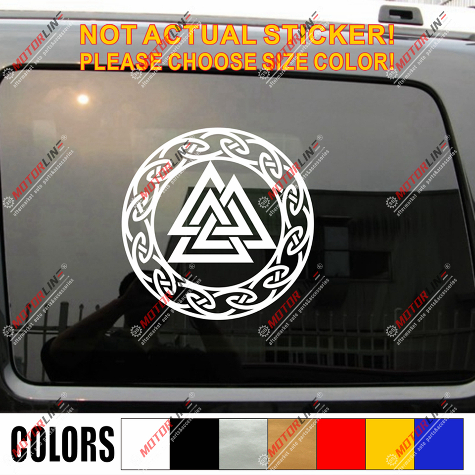 3S MOTORLINE 6 White Valhalla Lettering Decal Sticker Odin Viking Norse Car Vinyl sda3 2