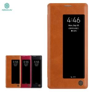 Image 1 - Yeni Huawei Mate 30 Pro durumda NILLKIN PU Flip akıllı kılıf için Huawei Mate 30 Pro kapak cüzdan deri uyku fonksiyonu