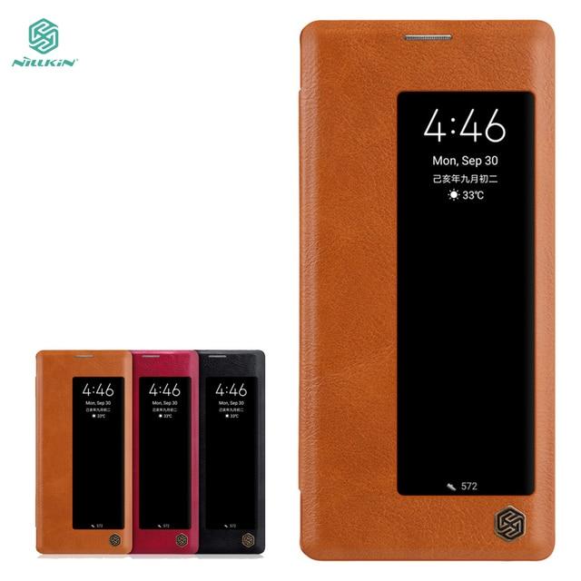 Yeni Huawei Mate 30 Pro durumda NILLKIN PU Flip akıllı kılıf için Huawei Mate 30 Pro kapak cüzdan deri uyku fonksiyonu