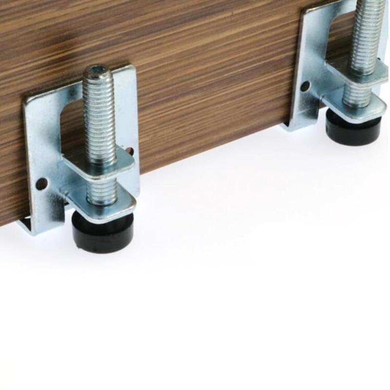 4pcs 0-5cm Screw Furniture Adjustable Cabinet Legs Steel Table Sofa Metal Leveling Feet Corner Bracket Floor Protection Hardware