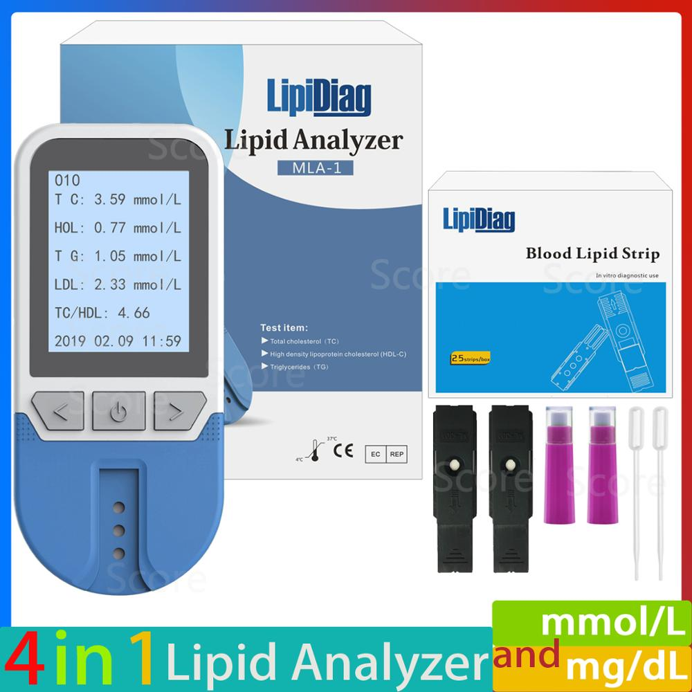Lipid Analyzer Cholesterol HDL -Meter High-Density Lipoprotein Triglyceride 4in1 TC  title=