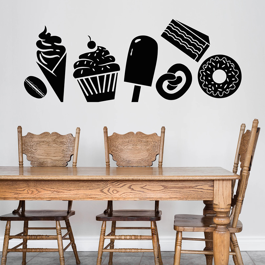 g2727 Vinyl Wall Decal Ice Cream Quote Dessert Food Sweet Home Phrase Stickers