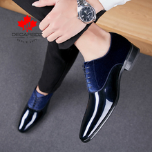 DECARSDZ zapatos de vestir para hombre, calzado de oficina, a la moda, de alta calidad, charol, cómodos, formales, de marca