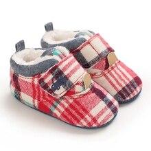 Новорожденный ребенок мальчик девочка мода +зима обувь полосатая +мягкая подошва сапоги обувь теплая обувь 0-18 мес 2020 новинка прибытие