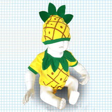 Infant Baby Bodysuit Costumes Short Sleeve 3D Pineapple Printed Baby Rompers Newborn Casual Cute Jumpsuit With Hat Outfit #LR2(China)