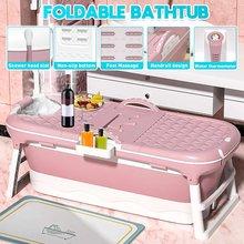 Baignoire pliante Portable de 1.5m, grand baril de bain pour adultes et enfants, SPA avec couvercle et affichage de la température