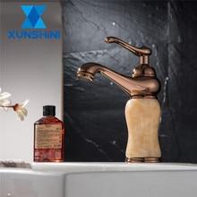 цена на XUNSHINI Jade Basin Faucet Bathroom Vessel Sink Faucet  Deck Mounted Bathroom Kitchen Mixer Tap Hot Cold Tap Torneira Banheiro