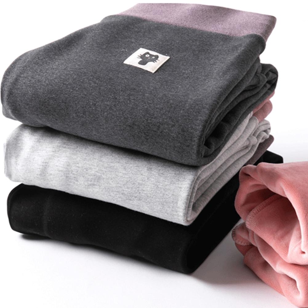 Fashion Women's Autumn And Winter High Elasticity And Good Quality Thick Velvet Pants Warm Plus Size Cotton Leggings Black