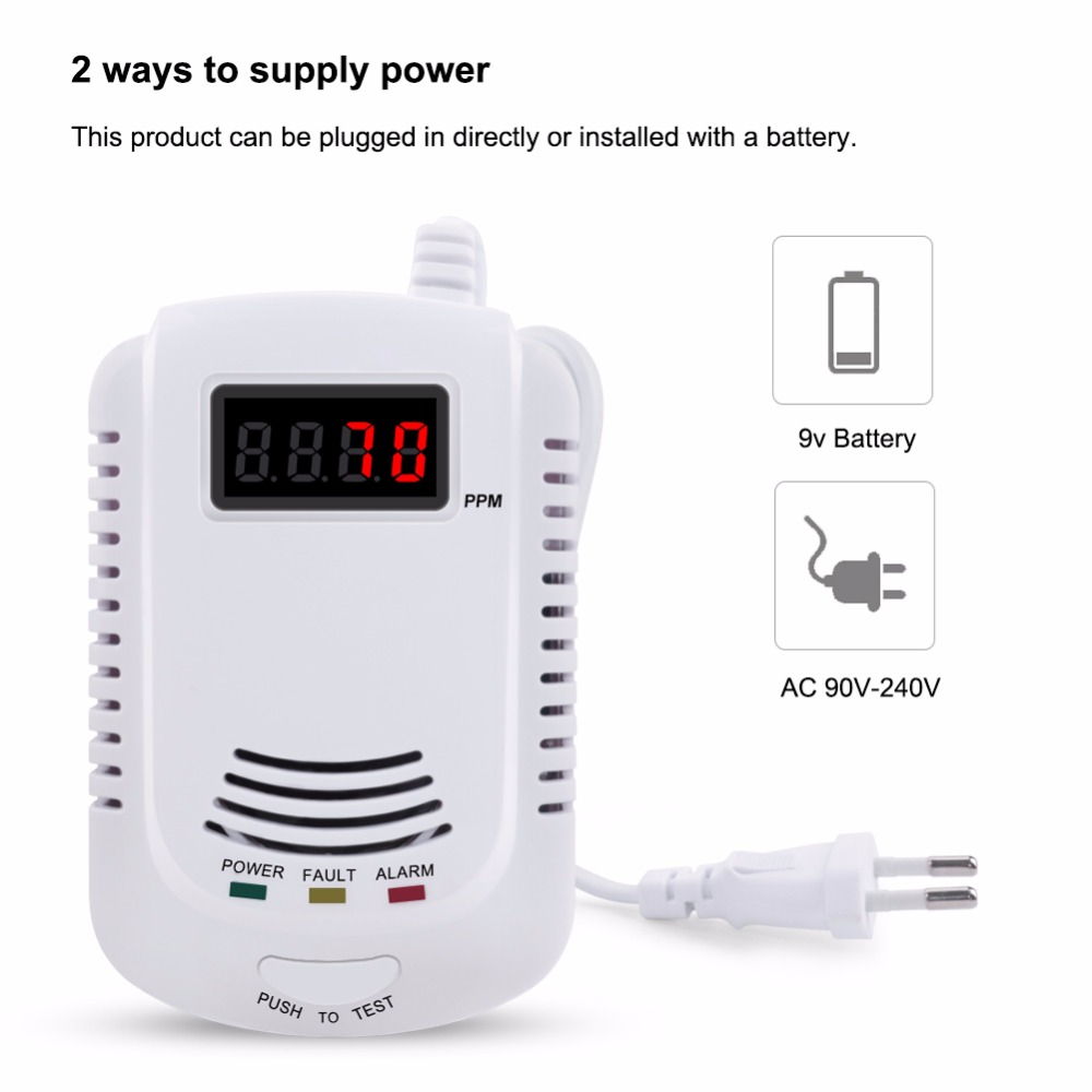 Smart Voice Gas Alarm System Household Leakage Detector Sensor Home Kitchen Security Alarm Sensor High Quality