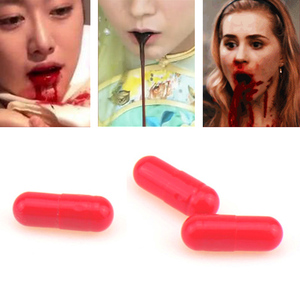 3pcs Fake Blood Vampire Pill Capsules Halloween Horror Funny Prank Trick joke Toys Halloween decoration dropship