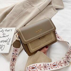 Image 2 - 2019 yeni mini çanta kadın moda ins ultra yangın retro geniş omuz askısı askılı çanta çanta basit stil Crossbody çanta