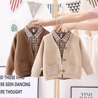 Baby Jungen pullover 1-4 jahre alt strickjacke jungen baumwolle pullover jacke frühling und herbst kinder stricken Baumwolle tasche jacke
