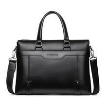 Business Casual Men Briefcase Crossbody Laptop Bag Travel Le