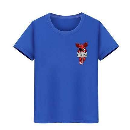 Dzieci T Shirt chłopcy dziewczęta T-Shirt czystej bawełny ubrania dla dzieci dzieci marki tshirt nastoletni chłopiec to ja Kawaii FNAF pluszowe Foxy tee