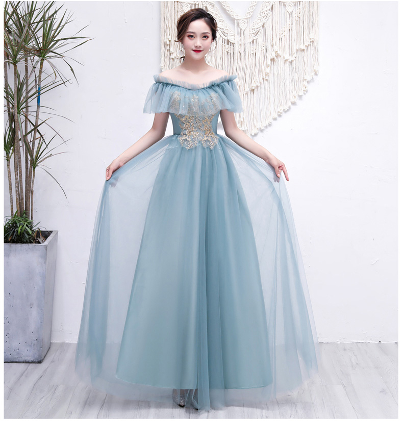 Tulle Long Dress Women For Wedding Party Boat Neck Sleeveless Bridesmaids Dresses Sister Elegant Graduation Sexy Dress Vintage