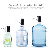 Household USB Charging Bottled Water Dispenser Electric Wireless Pumping Unit Use for Different Size Bucket Bottle Pump