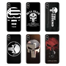 Untuk Xiao Mi Mi 6 Mi 6 A1 Max Mi X 2 5X 6X Merah Mi Note 5 5A 4X 4A A4 4 3 Plus 3 Pro Ponsel Cover Housing Amerika Sniper Chris Kyle Logo(China)
