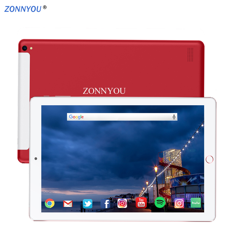 New System 10.1 Inch Tablet Android 8.0 3G/4g Phone Call 6GB/128GB Octa Core Dual SIM Card Wi-Fi Bluetooth Tablets /Leather Cove