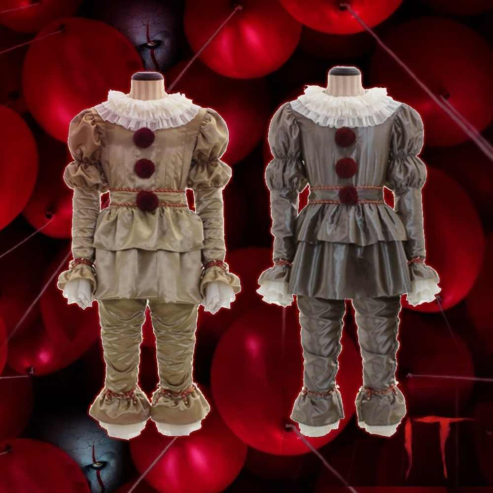 Fancy Costume di Halloween Pagliaccio Stephen King's Costume Cosplay Pennywise Gli Uomini Adulti Donne Costume Da Clown Costume Outfit Suit