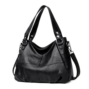 Image 2 - Damska torebka z prawdziwej skóry duża skórzana projektant duże torby z bawełny dla kobiet 2019 luksusowa torba na ramię znanych marek torebki