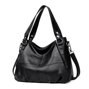 Image 2 - Sac à main en cuir véritable pour femmes, grand fourre tout de styliste, sac à bandoulière de luxe, sac de marque célèbre, 2019