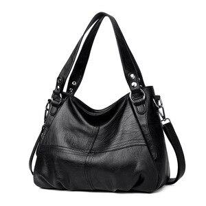 Image 2 - Womens Genuine Leather Handbag Large Leather Designer Big Tote Bags for Women 2019 Luxury Shoulder Bag Famous Brand Handbags