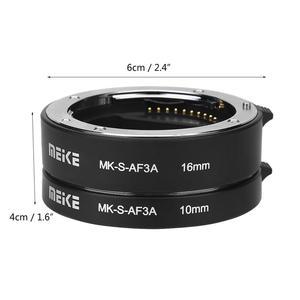 Image 5 - MEIKE MK S AF3A otomatik odak makro uzatma tüpü seti 10mm + 16mm Sony E/FE NEX3 NEX5 NEX6 NEX7 A5000/A6000/A7/A7M2 serisi