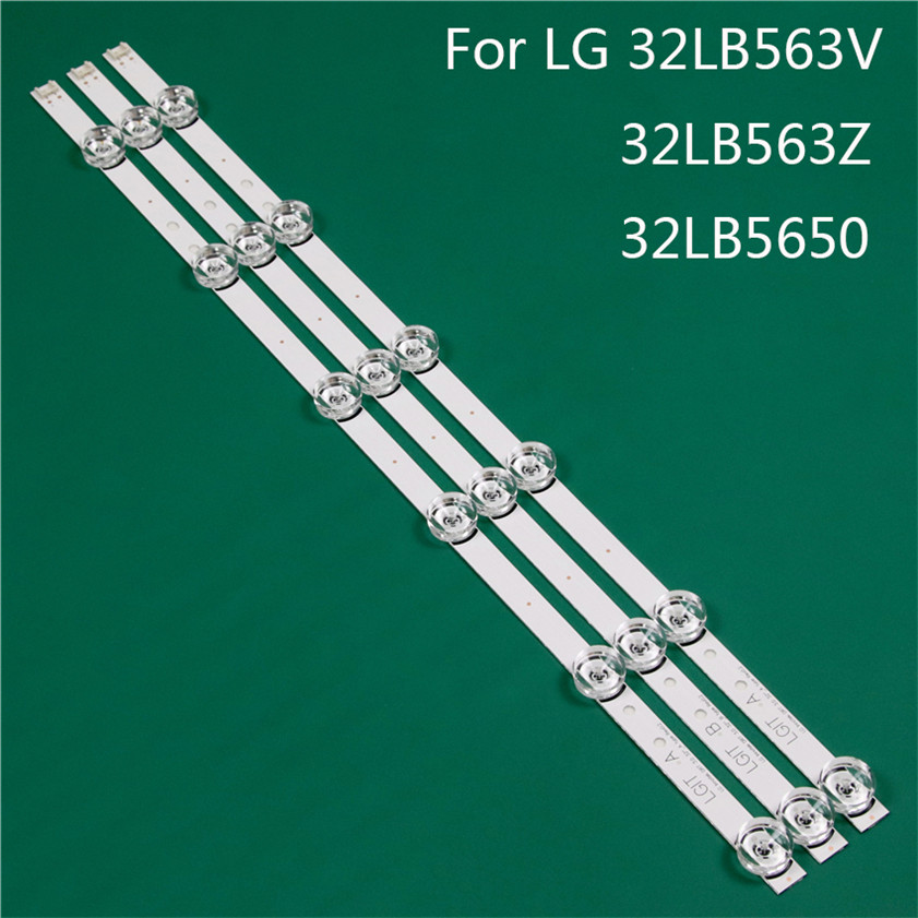 LED TV Illumination Part Replacement For LG 32LB563V-ZT 32LB563Z-TD 32LB5650-TO LED Bar Backlight Strip Line Ruler DRT3.0 32 A B