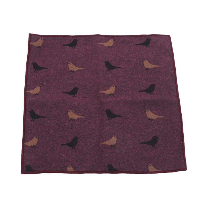Little Bird Cartoon Cotton Handkerchief Cartoon Printing Casual Suit Pocket Towel High Quality Exquisite Pattern Handkerchief