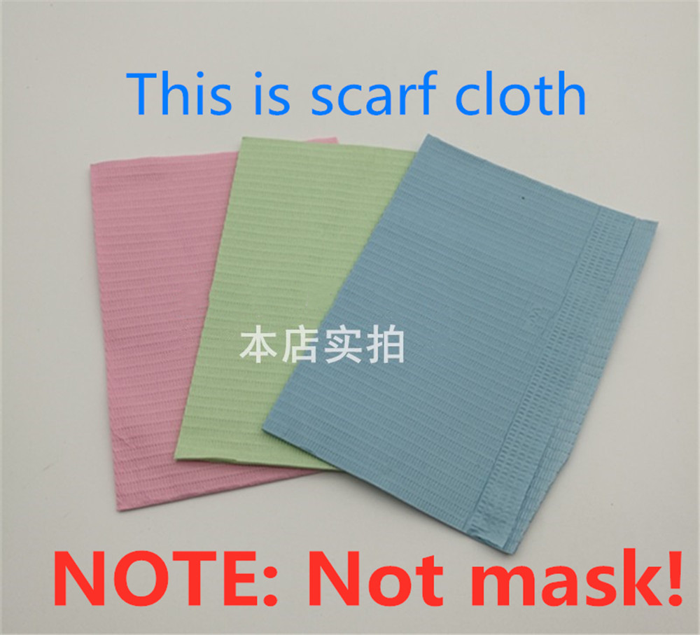 Dentist Oral Hygiene Medical Paper Scarf Tattoo Bib Disposable Water-resistant Scarf Neckerchief Dental Material 125pcs