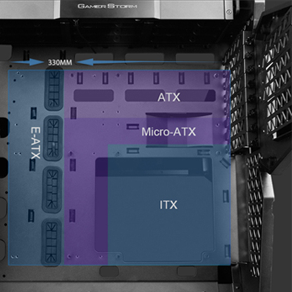 E-ATX Motherboard Computer Case USB3.0x3 Gaming Mute Side Transparent DIY Desktop Cases Support ATX/Micro-ATX with 5 Cooling Fan 2