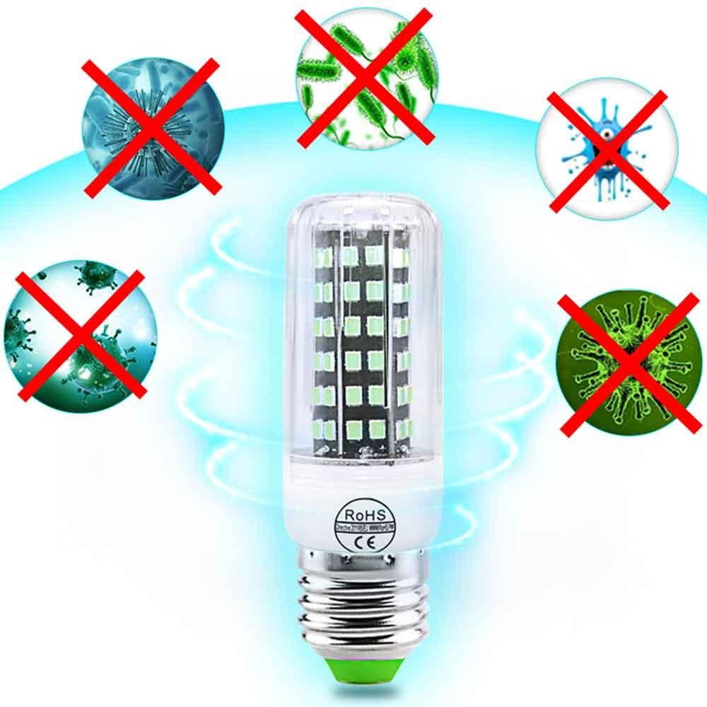 E27 UV Desinfection Lamp E14 LED Corn Bulb 110V 220V Sterilizer Light 112LED UVC Germicidal Bulb Ultraviolet Kill Mites Lamp