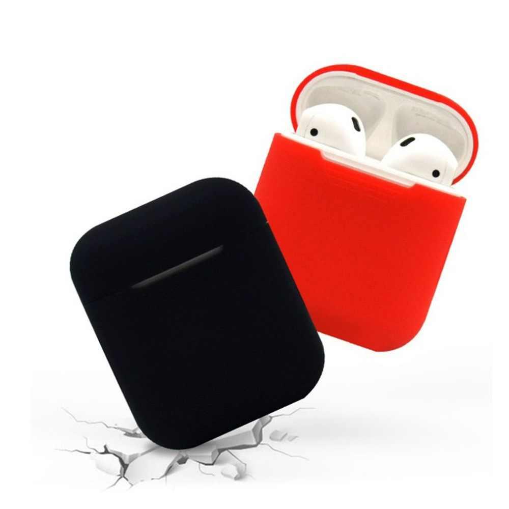 Dpower TPU سيليكون بلوتوث اللاسلكية حقيبة سماعة الاذن ل AirPods واقية غطاء الجلد التبعي ل أبل Airpods شحن مربع