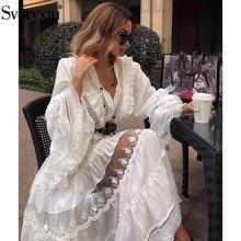 de vestido bordado Blanco