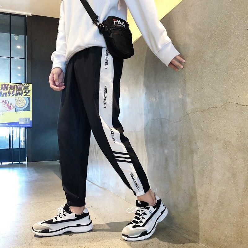 New Style Winter Thick Men's Trousers Sports Clothing Men Korean-style Casual Pants Men's Skinny Plus Velvet 9 Pants Men's
