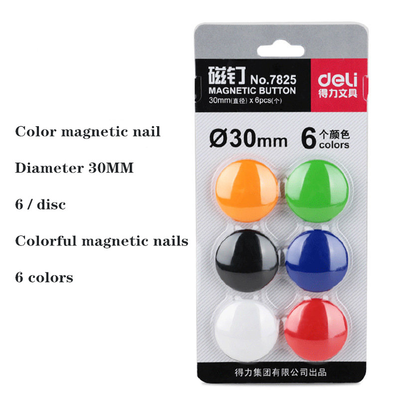 6PCS/Set Notice Board Planning Magnets Fridge Whiteboard Magnetic Button 30Mm