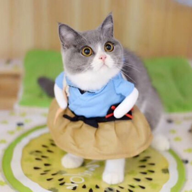 Funny Cat Dog Costume Uniform Suit Cat Clothes Costume Puppy Clothes Dressing Up Suit Party Clothing For Cat Cosplay Clothes 1