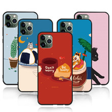 Phone Case For iphone 11 Pro Max XR XS MAX X Dream Shell Pattern Plant For Apple 8 7 6 5s s Plus Silicone TPU Anti-shock Cover(China)