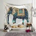 Новый гобелен с индийским слоном мандалой  хиппи-арт  настенный подвесной гобелен  пляжное полотенце  покрывало  скатерть для YogaMat  домашний ...