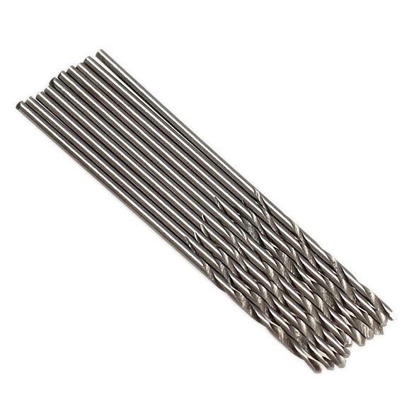 10Pcs Micro HSS Twist Drilling Straight Shank Auger Bit Set Durable Electrical Drill Tools Kit