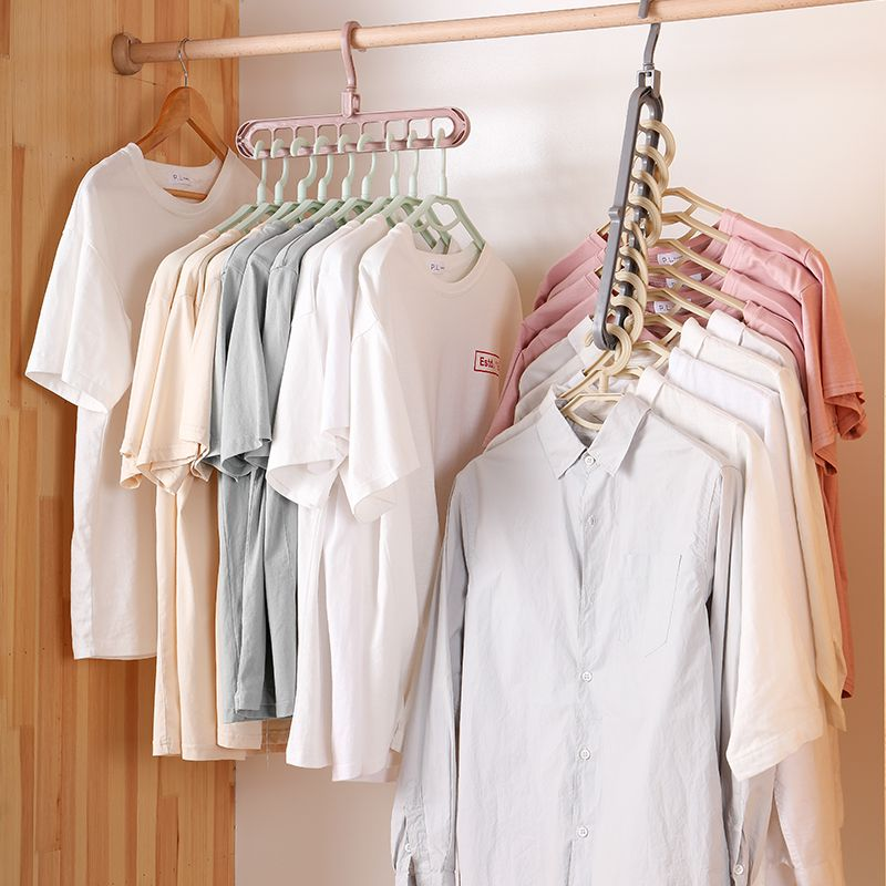Clothes Hanger Closet Organizer Space Saving Hanger Multi-port Clothing Rack Plastic Scarf Cabide Storage Hangers For Clothes