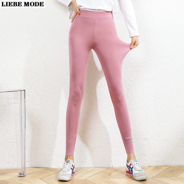 Womens Sexy Thin Stretchy Modal Black Pink Grey Brown Leggings High Waist Woman Plus Size Fitness Legging Capri Elastic Ankle