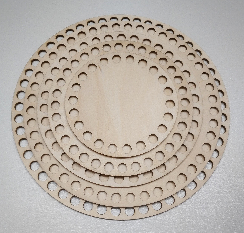 Набор круглых деревянных донышек для корзин из 5шт. 10см/13см/15см/18см/20см по 1 шт. Заготовки для вязания корзин.