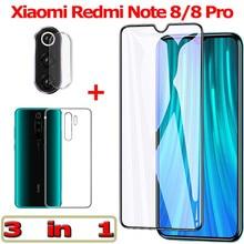 3-in-1 Tempered Glass for Xiaomi Redmi Note 8 Pro Camera 8Pro Screen Protector