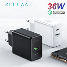 KUULAA Quick Charge 4.0 3.0 36W USB Charger PD 3.0 Fast Charger US EU Plug Adapter Supercharger For iPhone X XR XS 8 Xiaomi Mi 9 mi добавить eu plug