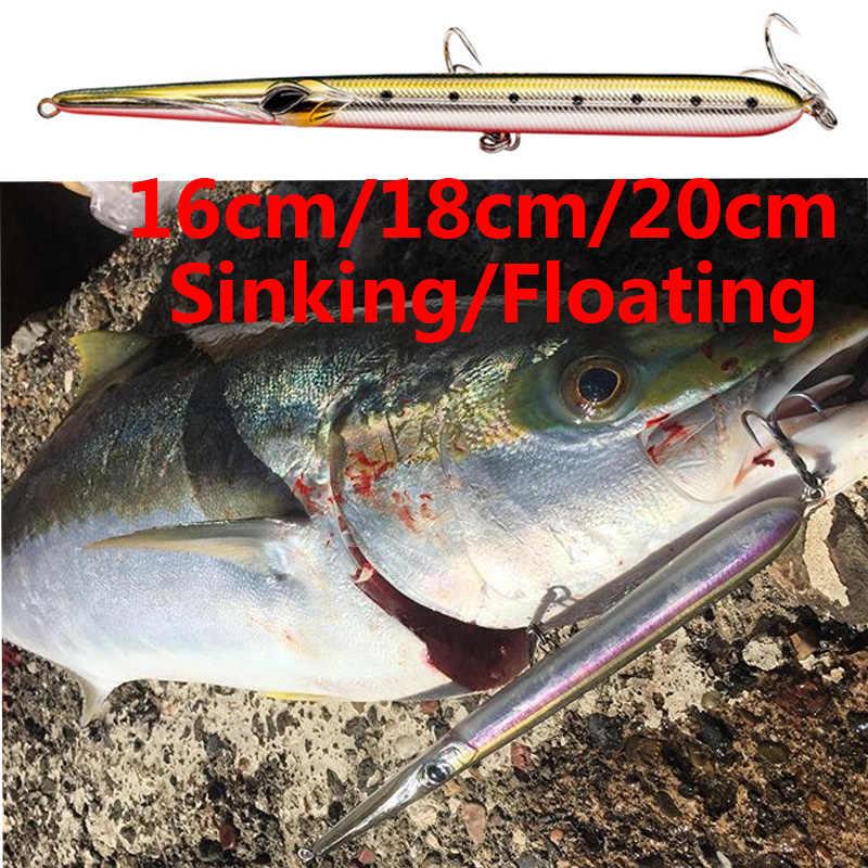 Needle Fishing Lure Stylo Stickbait Floating Pencil Hard Wobblers Artificia Bait